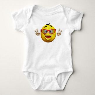 Cool 3d  emoticon  baby bodysuit