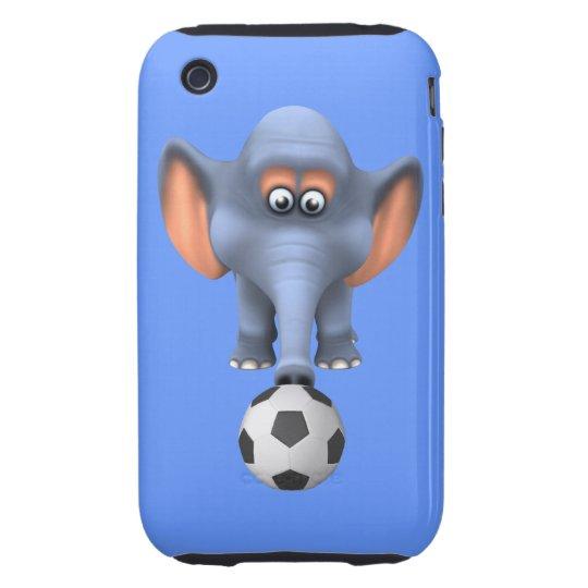 Cool 3d Football Elephant (editable) iPhone 3 Tough Cover