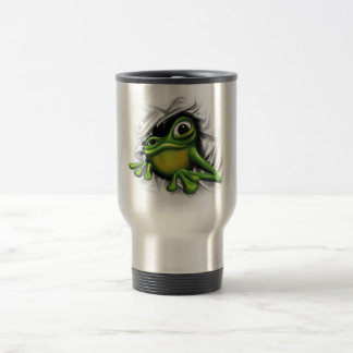 Cool 3d frog 15 oz stainless steel travel mug