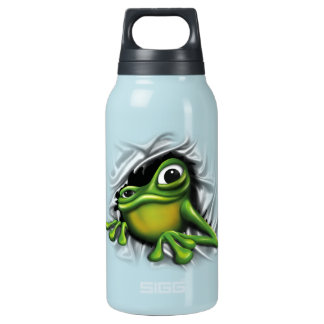 Cool 3D Frog Insulated Water Bottle