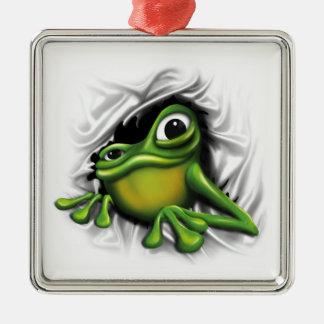 Cool 3D Frog Metal Ornament