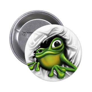 Cool 3d frog pinback button