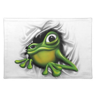 Cool 3d frog cloth placemat
