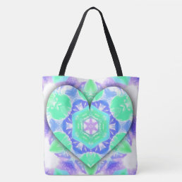 Cool 3d Heart Pink Or Teal Optional Patterns Tote Bag