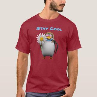 Cool 3d Penguin Hippy (editable) T-Shirt