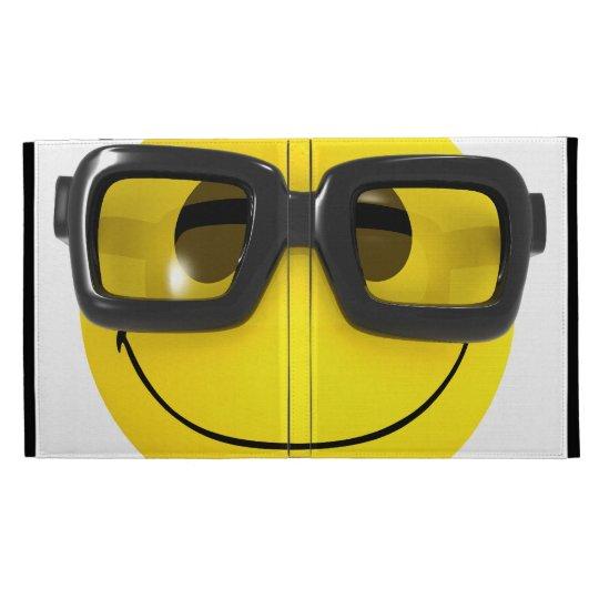 Cool 3d Smiley Nerd Geek iPad Case