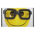 Cool 3d Smiley Nerd Geek iPad Folio Covers