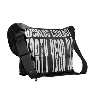 Cool 40th Birthdays Worlds Coolest Forty Year Courier Bags