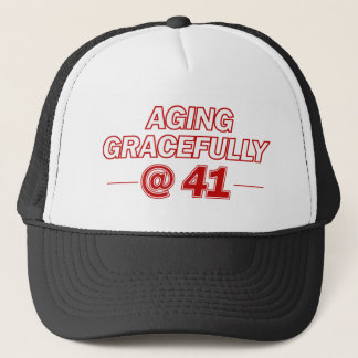 cool 41 years old gifts trucker hat