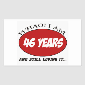 cool 46 years old birthday designs rectangular stickers