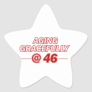 cool 46 years old gifts star sticker