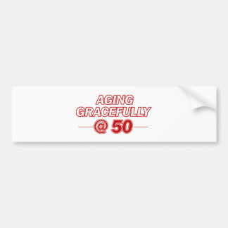 cool 50 years old gifts bumper sticker