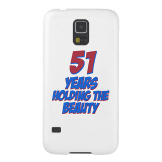cool 51 years old birthday designs case for galaxy s5