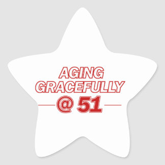 cool 51 years old gifts star sticker