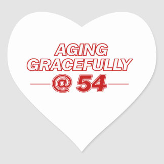 cool 54 years old gifts heart sticker