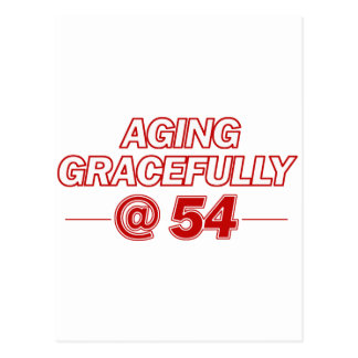 cool 54 years old gifts postcard