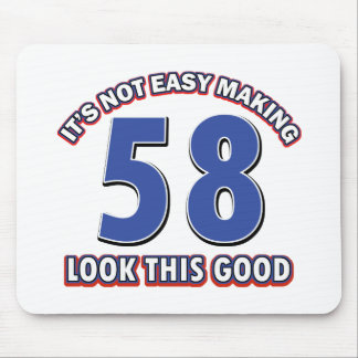 Cool 58 year birthday designs mouse pad