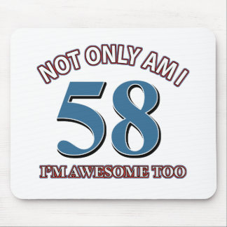 COOL 58 YEARS OLD BIRTHDAY DESIGNS MOUSE PAD