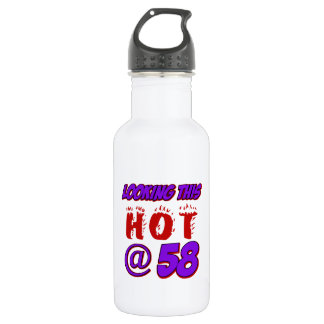 cool 58 years old birthday designs 18oz water bottle