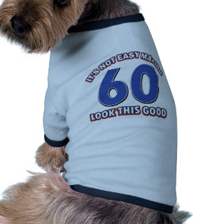 Cool 60 year birthday designs pet clothes