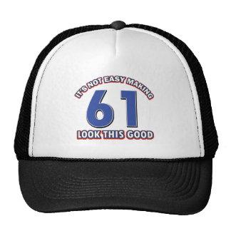 Cool 61 year birthday designs trucker hat