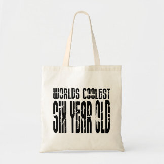 Cool 6th Birthdays Worlds Coolest Six Year Old Tote Bags