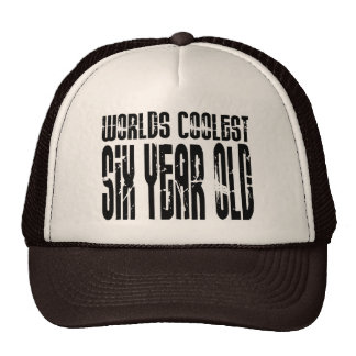 Cool 6th Birthdays Worlds Coolest Six Year Old Hat