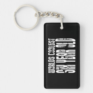 Cool 6th Birthdays Worlds Coolest Six Year Old Acrylic Key Chains