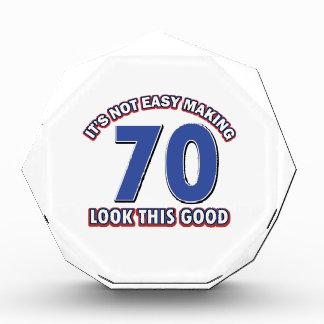 Cool 70 year birthday designs acrylic award