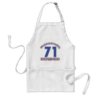 Cool 71 year birthday designs adult apron
