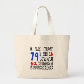 Cool 79 Birthday Designs Canvas Bags