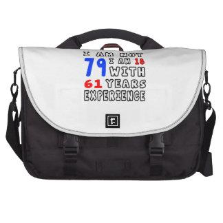 Cool 79 Birthday Designs Laptop Commuter Bag
