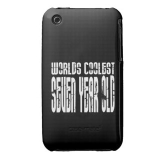 Cool 7th Birthdays Worlds Coolest Seven Year Old Case-Mate iPhone 3 Case