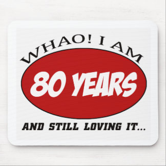 cool 80 years old birthday designs mouse pad