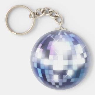 Cool 80s Disco Ball Basic Round Button Keychain