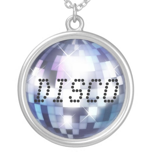 Cool 80s Disco Ball with custom Text Jewelry