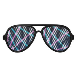 Cool 80s Laser Light Show Background Retro Neon Aviator Sunglasses