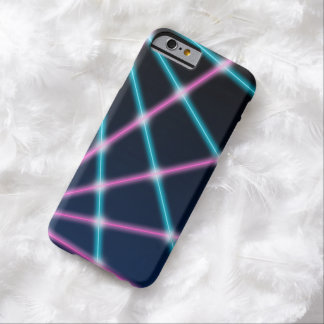 Cool 80s Laser Light Show Background Retro Neon Barely There iPhone 6 Case