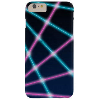 Cool 80s Laser Light Show Background Retro Neon Barely There iPhone 6 Plus Case