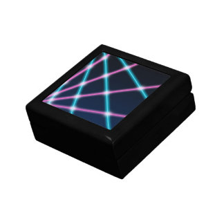 Cool 80s Laser Light Show Background Retro Neon Gift Boxes