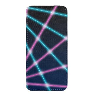 Cool 80s Laser Light Show Background Retro Neon iPhone SE/5/5s/5c Pouch