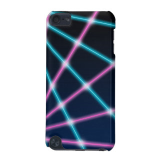 Cool 80s Laser Light Show Background Retro Neon iPod Touch (5th Generation) Case