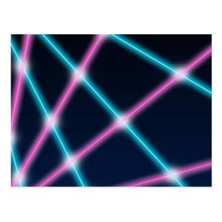 Cool 80s Laser Light Show Background Retro Neon Postcard