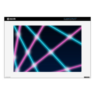 Cool 80s Laser Light Show Background Retro Neon Skin For Laptop