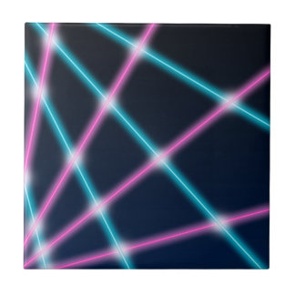 Cool 80s Laser Light Show Background Retro Neon Tile