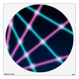 Cool 80s Laser Light Show Background Retro Neon Wall Sticker