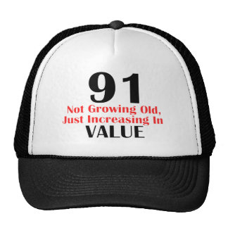 COOL 91 YEARS OLD BIRTHDAY DESIGNS TRUCKER HAT