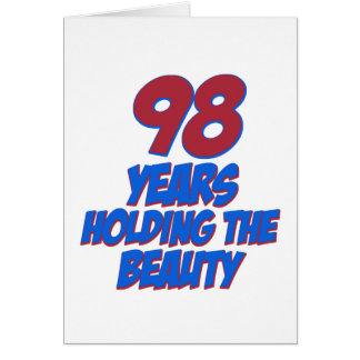 cool 98 years old birthday designs card