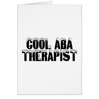 Cool ABA Autism Therapist Card