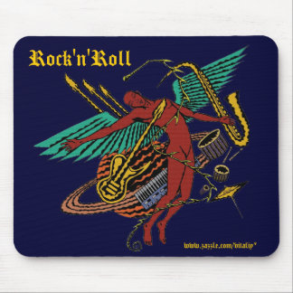 Cool absract rock 'n' roll music mousepad